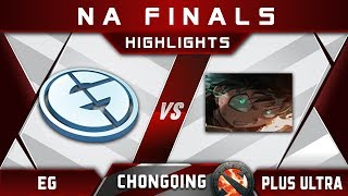 EG Vs Plus Ultra - Last NA Slot At Chongqing Major 2018 Highlights Dota 2