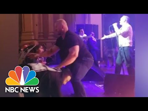 Watch Fans Tackle Morrissey Onstage At San Diego Concert | NBC News