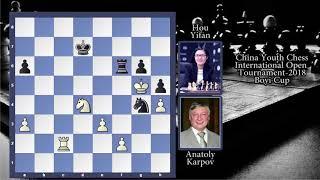 Amazing Chess Game:  Anatoly  Karpov vs Hou Yifan