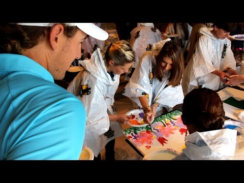 Arts and Crafts Day with Batson Patients at Sanderson Farms Championship