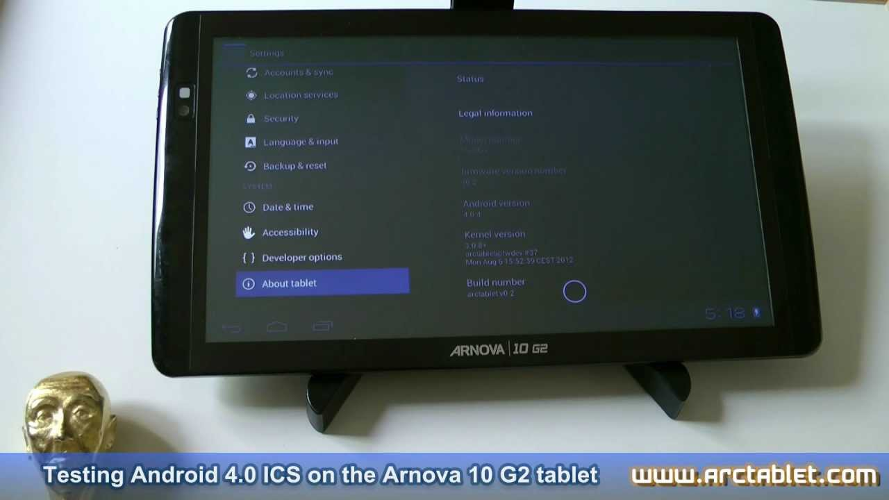 Arnova 10 g2 android 4. 03 ics custom firmware update with root and.