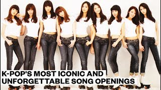 K-Pop's most iconic and unforgettable song openings
