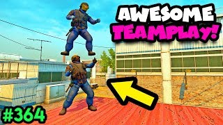 1000 IQ BEST TEAMWORK ! - CS:GO BEST ODDSHOTS #364