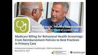 Medicare Billing for Behavioral Health Screenings