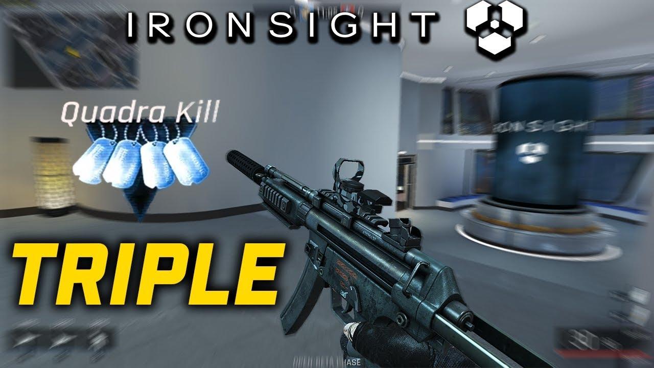 IronSight   TRIPLE QUADRAKILL! (MP5 Gameplay Español HD)