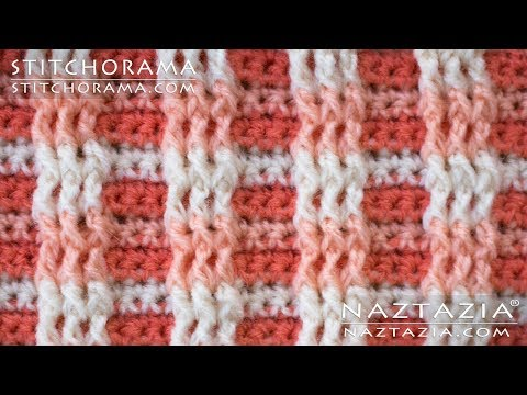 Crochet Post Stitch 003 - Front Post & Back Post Double Crochet FPDC BPDC - Stitchorama By Naztazia