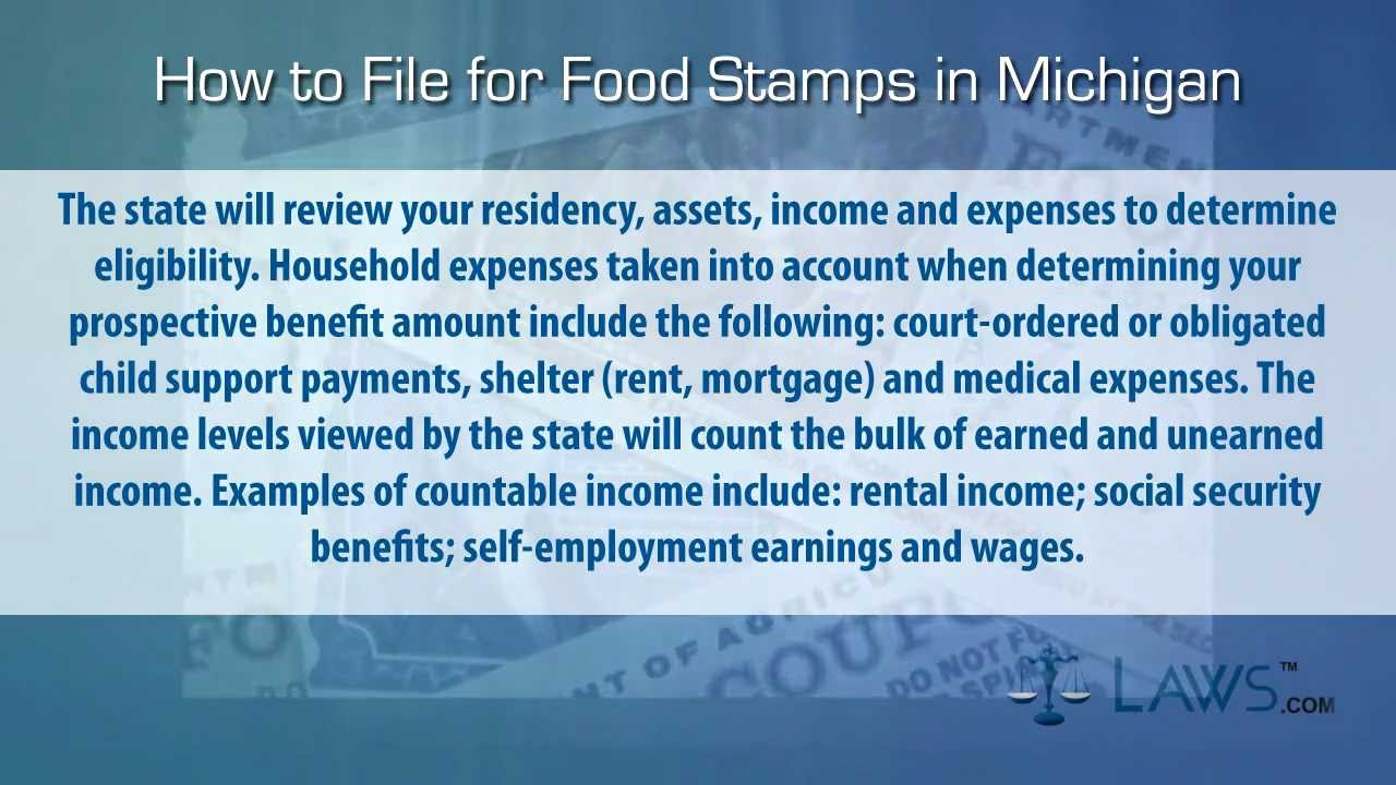 How To File For Food Stamps Michigan