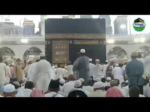 Merdunya suara Adzan Magrib di Masjidil Haram, Arab Saudi.