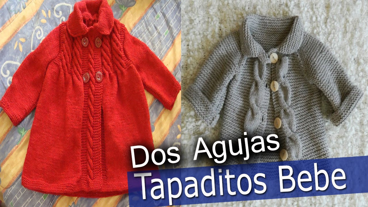 Tapaditos de Bebe - Tejidos En Dos Agujas - YouTube