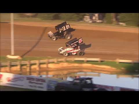 Ohio Valley Sprint Car Association Heat #1 from Atomic Speedway, July 7th, 2018.