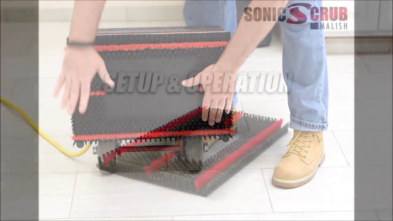 Tile grout brush for square strip square scrub machines youtube dailygadgetfo Image collections