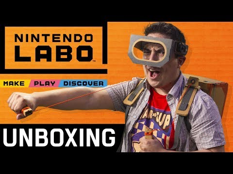 Nintendo Labo Unboxing and Building A Robot!