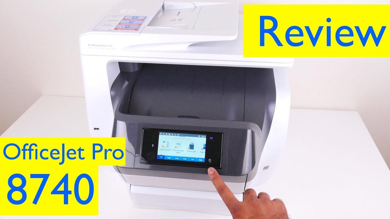 HP OfficeJet Pro 8740 Review - All-in-One Wireless Inkjet Printer