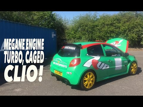 ROAD GOING TRACK CAR | MEGANE ENGINE, TURBO, CAGED CLIO!