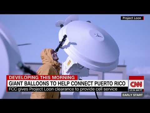 [WATCH] Giant balloons launch for Puerto Rico cell phone service project