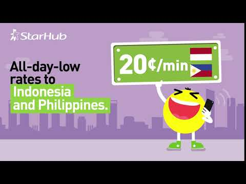 All-day-low IDD Rates | StarHub Mobile
