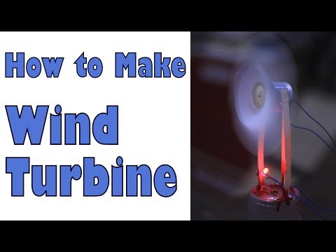 How to build WindMill to lightup LEDs,  Class room science activity (Urdu)