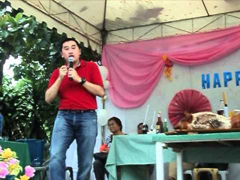 CONG.ARTHUR YAP SPEAKING DURING THE FIESTA CELEBRATION