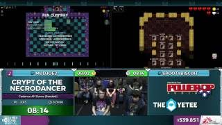Crypt of the NecroDancer race by SpootyBiscuit and mudjoe2 in 8:10 - SGDQ 2016 - Part 129