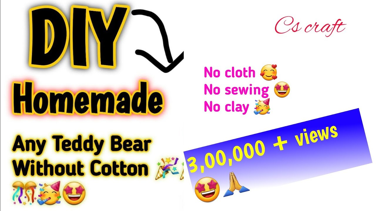 Download how to make Teddy Bear Without Cotton and sew|Homemade Teddy bear|Homemade Soft toy| Newspaper teddy