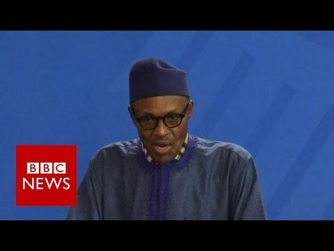 Nigerian President: My wife belongs to my kitchen - BBC News