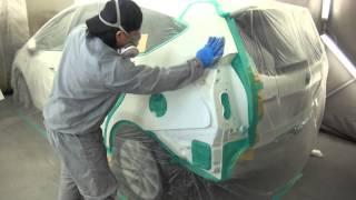 【その2】国立市よりご来店 トヨタ プリウス 板金・塗装・修理作業です。【板金塗装なら東京立川市のガレージローライド】 thumbnail