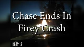 Police Chase Ends In Crash, Fire