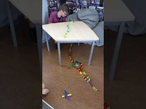 Toby and George's domino challenge