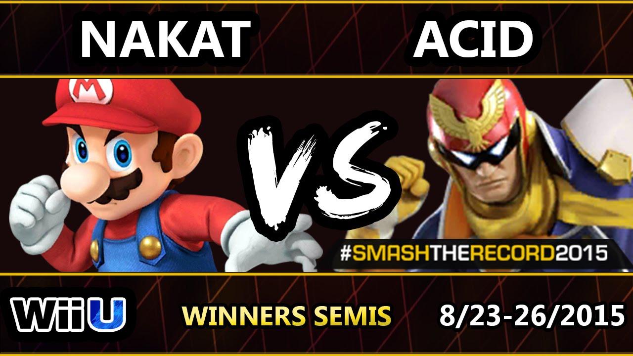 STR2015 - CLG | Nakat (Pikachu, Mario) Vs. Acid (C.Falcon, Villager) SSB4 WS - Smash Wii U