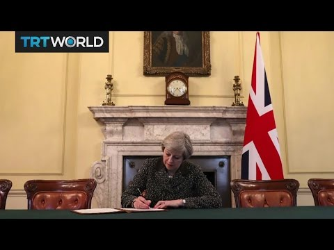 Brexit Day: Theresa May signs Brexit letter to EU
