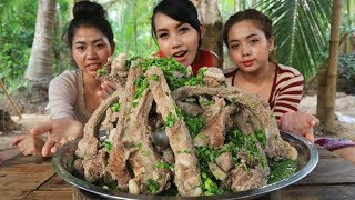 Yummy cooking pork ribs with green chili recipe  Cooking skill
