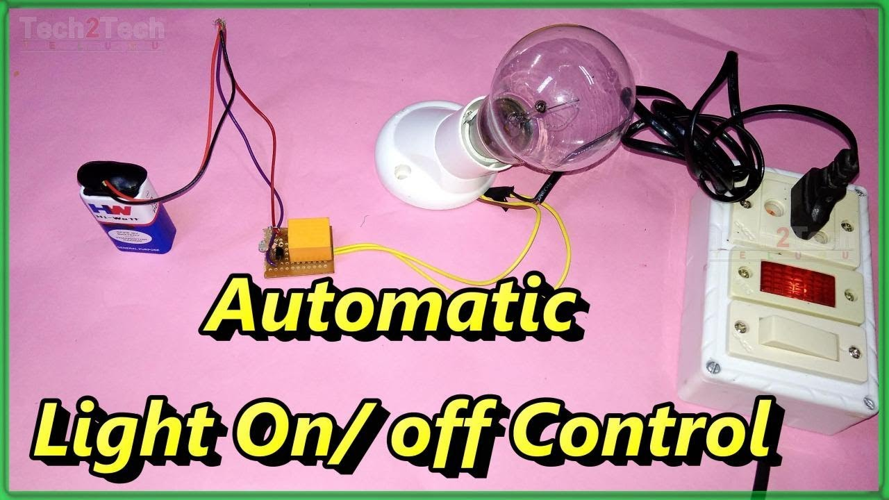 How To Make Automatic Light On Off Switch Dark Sensor Ldr Led Emergency Circuit Using