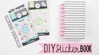 DIY Sticker Book Using MINI HAPPY PLANNER Sticker Sheets & Old Planner Inserts | At Home With Quita