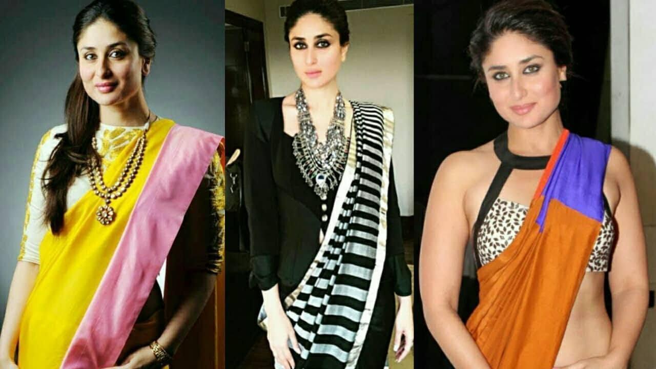 Latest Designer Trendy Bollywood Fashion Kareena Kapoor Designer Saree 2017 2018 By Trendy India Celebrity Gossip