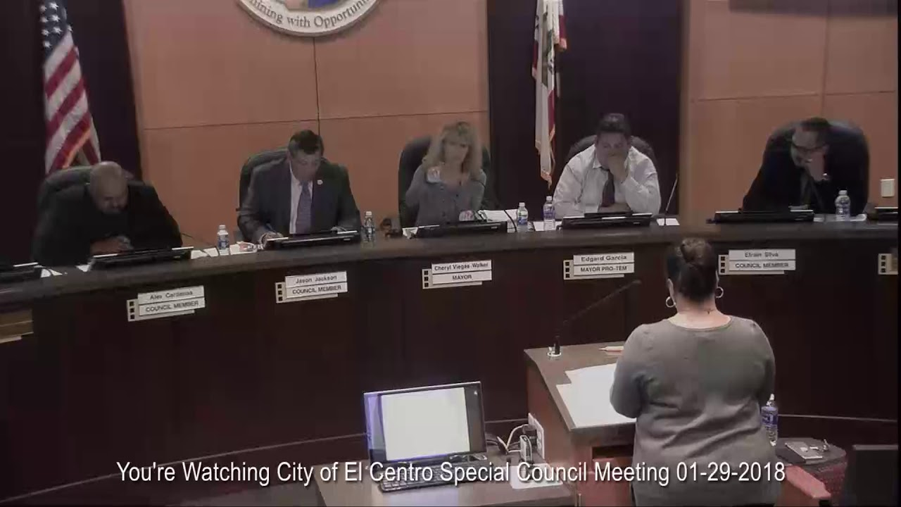 City of El Centro Special Council Meeting 01 29 2018 - YouTube