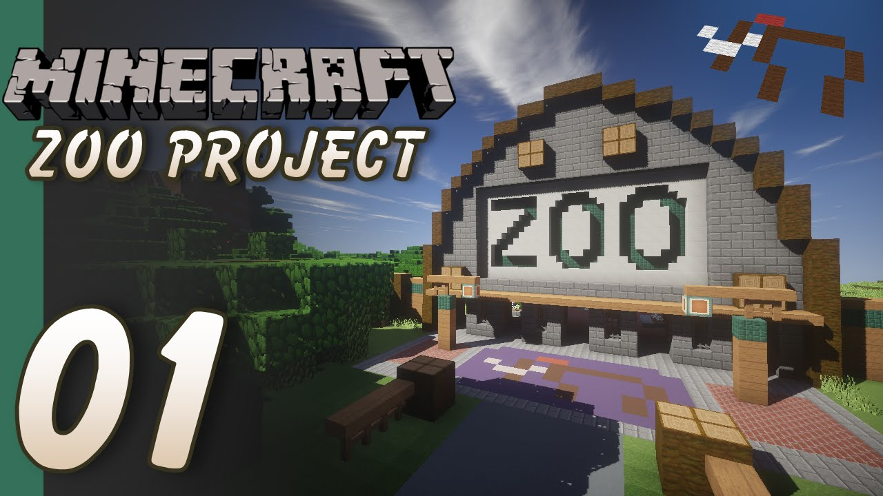 The Minecraft Zoo Project - Part 01 - Entrance and First ...