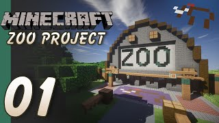 The Minecraft Zoo Project - Part 01 - Entrance and First Exhibit