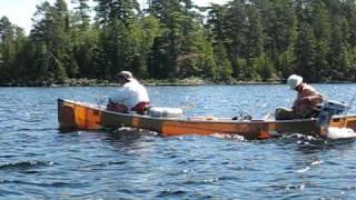 2hp motor on canoe BWCA
