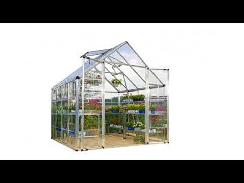 Must See Gardening Review! Palram Nature Harmony Greenhouse, 6' wide x 8'  long