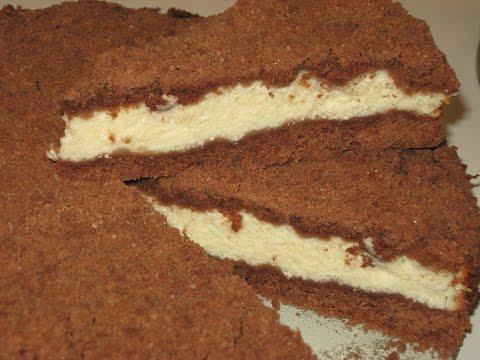 Как приготовить Торфяной пирог с творожной начинкой