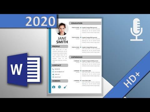 Resume Template In Word 📄 / Professional CV (🎙VOICE OVER, HD 2020) - With Downloadlink⬇