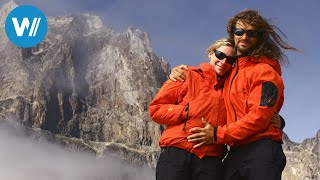 Risky Climbing for a Kiss in 1.500m Altitude - Mountain Love Story