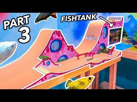 FINGERBOARD MEGARAMP SKATEPARK WITH FISH TANK PT3