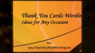 Thank You Cards Wording