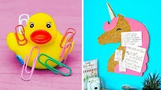 12 Cool DIY School Supplies! Back To School Hacks