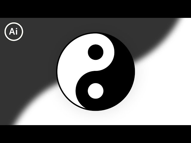 How to Draw Yin & Yang | Illustrator Tutorial