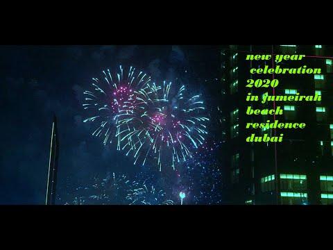 Jumeirah Beach fireworks welcomes 2020 # cooking fans