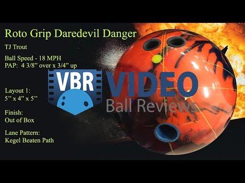 Roto Grip Dare Devil Danger Bowling Ball Reaction Video Ball Review {vs} Dare Devil Trick