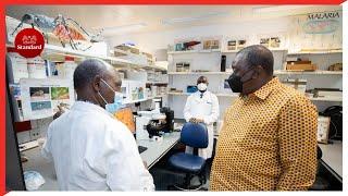 President Uhuru has unveiled the first locally manufactured malaria rapid diagnostics kit