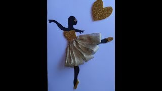 DIY Greeting Cards - How to Make Ballerina drawings card + Tutorial !